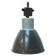 Grey Enamel Vintage Industrial Factory Hanging Pendant Lamp