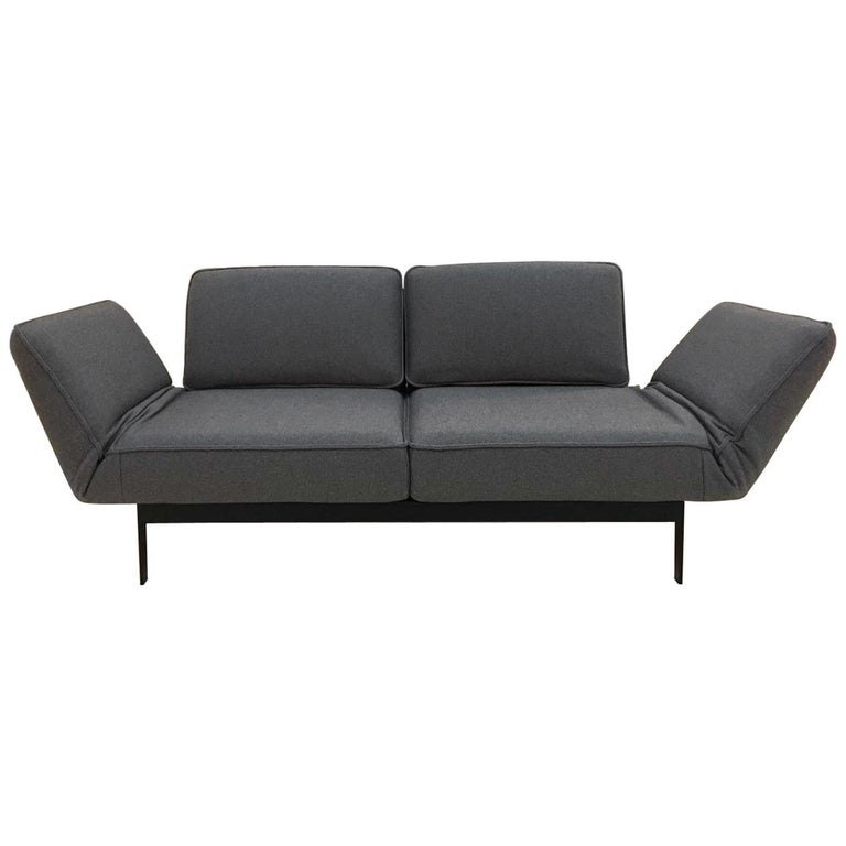 Astounding Grey Fabric Functional Sofa Chaise Lounge With Black Steel Frame By Rolf Benz Ibusinesslaw Wood Chair Design Ideas Ibusinesslaworg