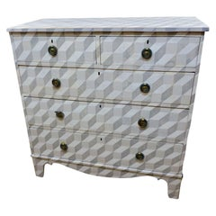 Grey Faux Painted Commode, England, 19th Century
