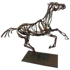 """""""Grey Galloping"""" Wire Horse Sculpture Artist Wendy Klemperer"""