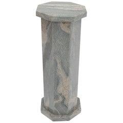 Grey Granite Stone Octagon Shape Pedestal Stand