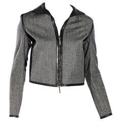 Grey Gucci Herringbone Jacket
