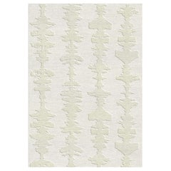 Grey Handmade Wool Rug with High/Low Pile from Inkblot Collection by Gordian