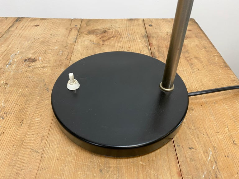 20th Century Grey Industrial Gooseneck Table Lamp, 1960s For Sale