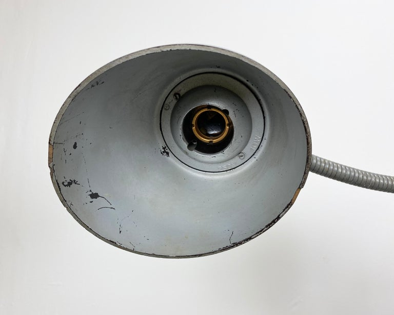 20th Century Grey Industrial Scissor Wall Lamp from Elektroinstala, 1960s For Sale