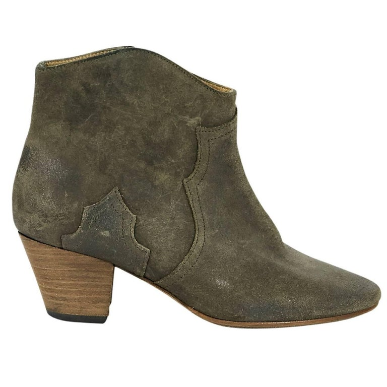 Grey Isabel Marant Suede Ankle Boots