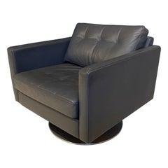 Grey Leather Armchair by Davison Highley