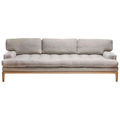 Grey Linen and Oak Forster Sofa by Lawson-Fenning
