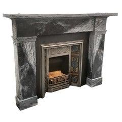 Grey Marble Fireplace Mantel from Edinburgh, Scotland
