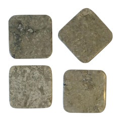 Grey Marble Stone Modern Cocktail or Drinks Coaster Set