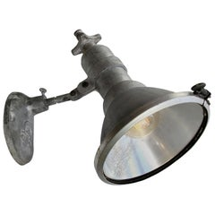 Grey Metal Vintage Industrial Clear Glass Scone Wall Lights