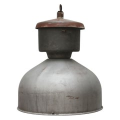 Grey Metal Vintage Industrial Hanging Lamp