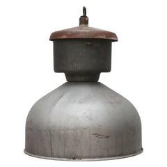 Grey Metal Vintage Industrial Hanging Lamp