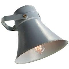 Grey Metal Vintage Industrial Scone Wall Light