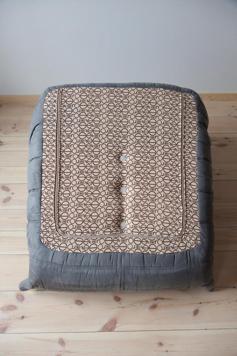 Grey Microfibre Togo Sofa Set By Michel Ducaroy For Ligne