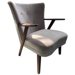 Grey Mid Century Armchair