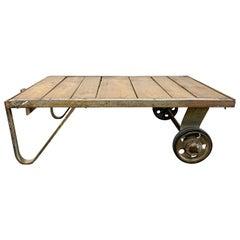Grey Midcentury Coffee Table Cart, 1950s