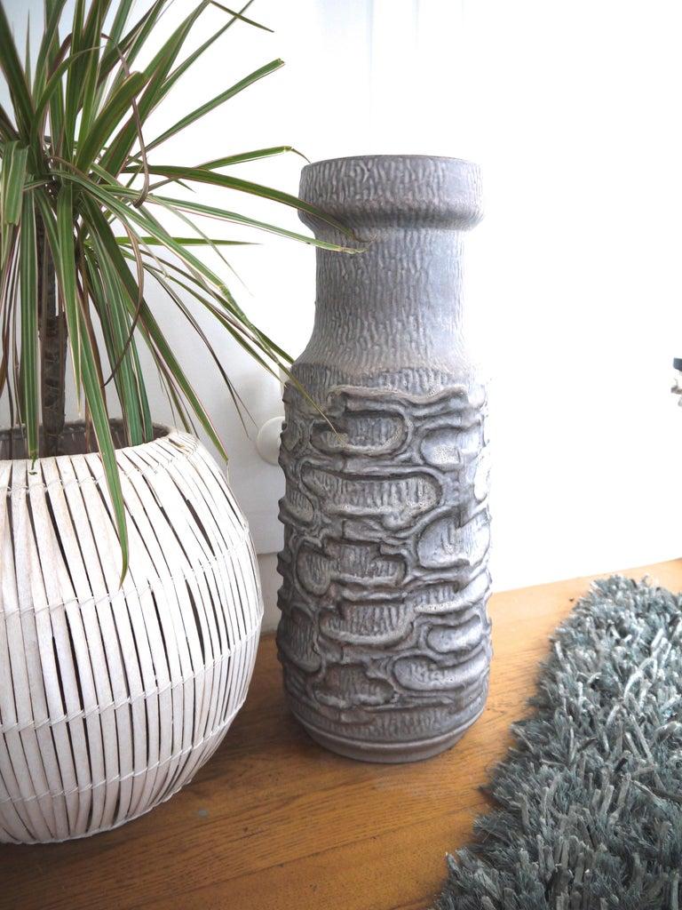 Austrian Grey Mid-Century Modern/Modernist Brutalist Floor Vase, Late 1950s to Mid-1960s For Sale