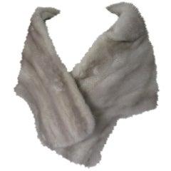 Grey Mink Fur Stole