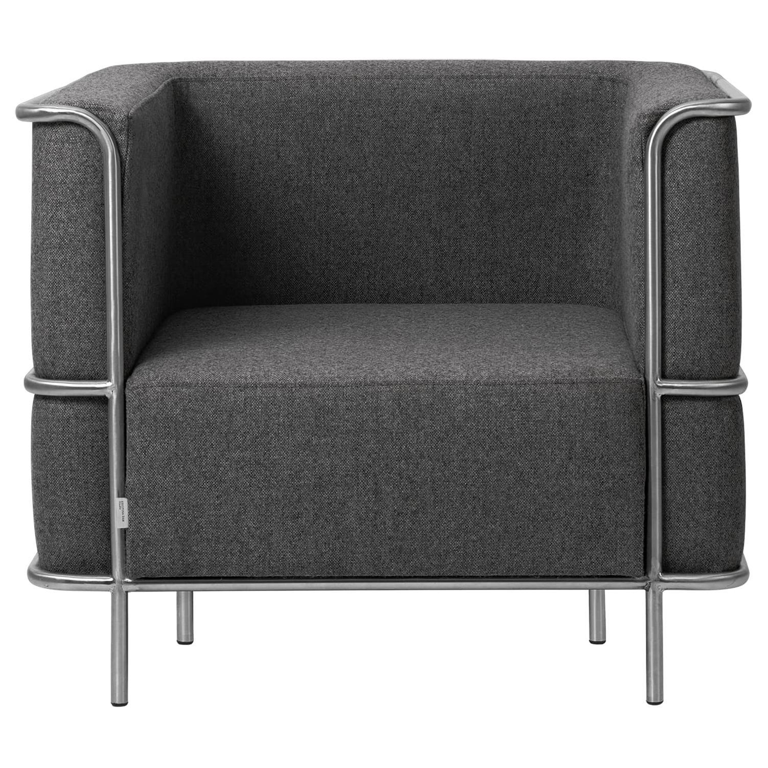 Grey Modernist Lounge Chair by Kristina Dam Studio