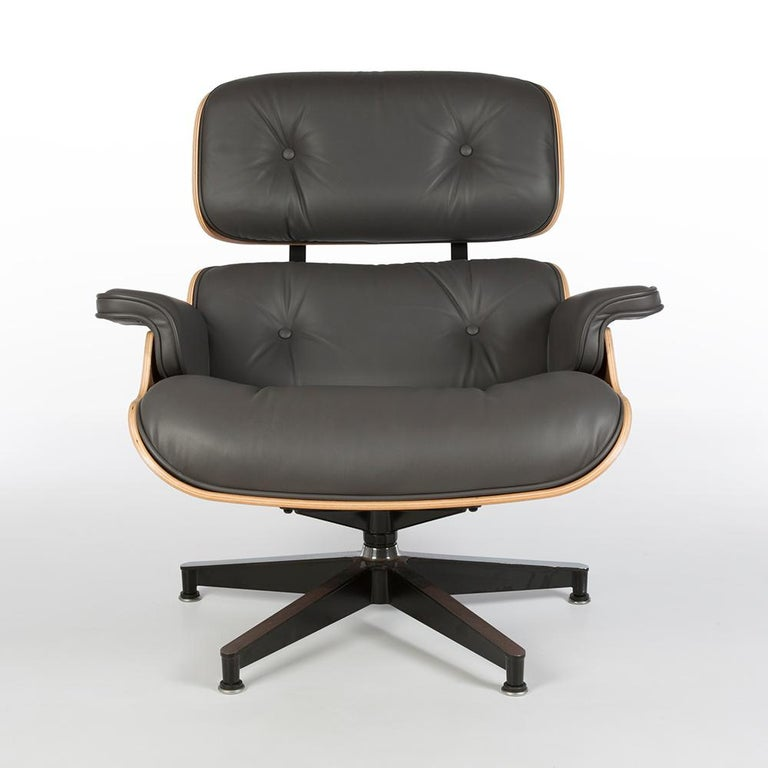 Surprising Grey Mohair And Walnut Herman Miller Eames Lounge Chair And Caraccident5 Cool Chair Designs And Ideas Caraccident5Info