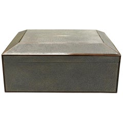 Grey Natural Shagreen Cigar Humidor