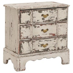 Grey Painted Baroque Chest of Drawers, 18th Century