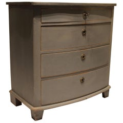Grey Painted Chest of Drawers in the Style of Gustavian, 1880s