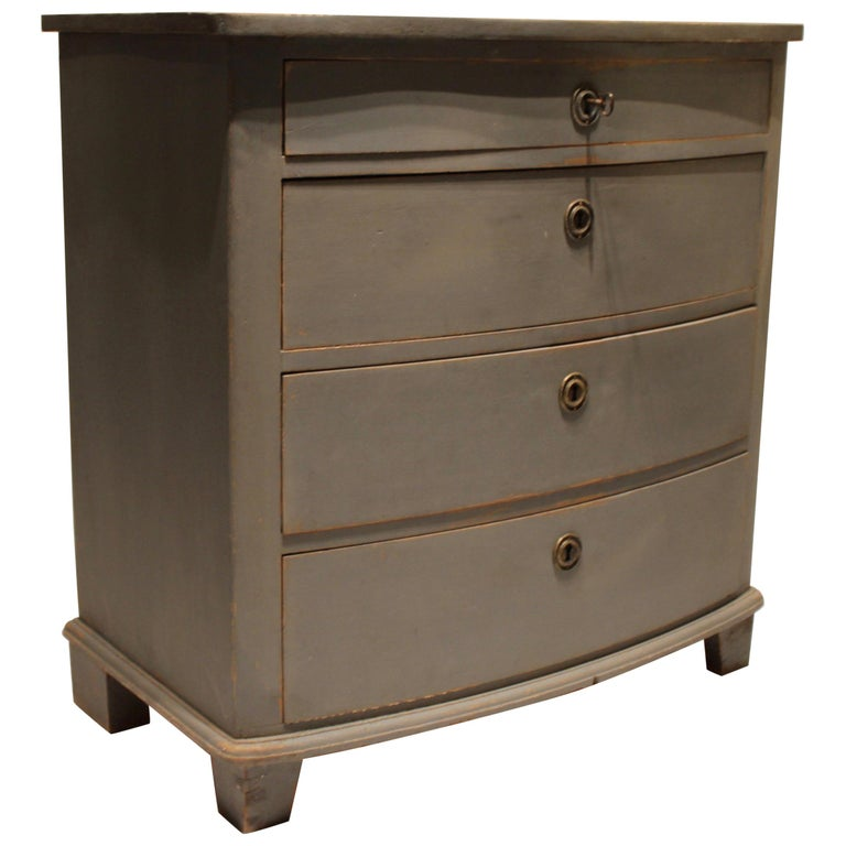 Grey Painted Chest of Drawers in the Style of Gustavian, 1880s For Sale