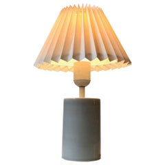 Grey Scandinavian Celadon Table Lamp by Aksel Larsen for Axella, 1970s