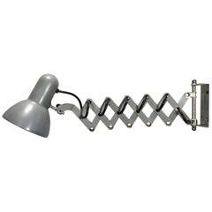 Grey Scissor Wall Lamp, 1980s