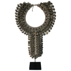 Grey Shell Necklace on Stand