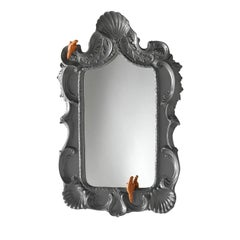 Grey Shells Parrot Mirror