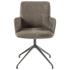 Grey Suede Armchair by Claudio Bellini, Made in Italy, in Stock in Los Angeles