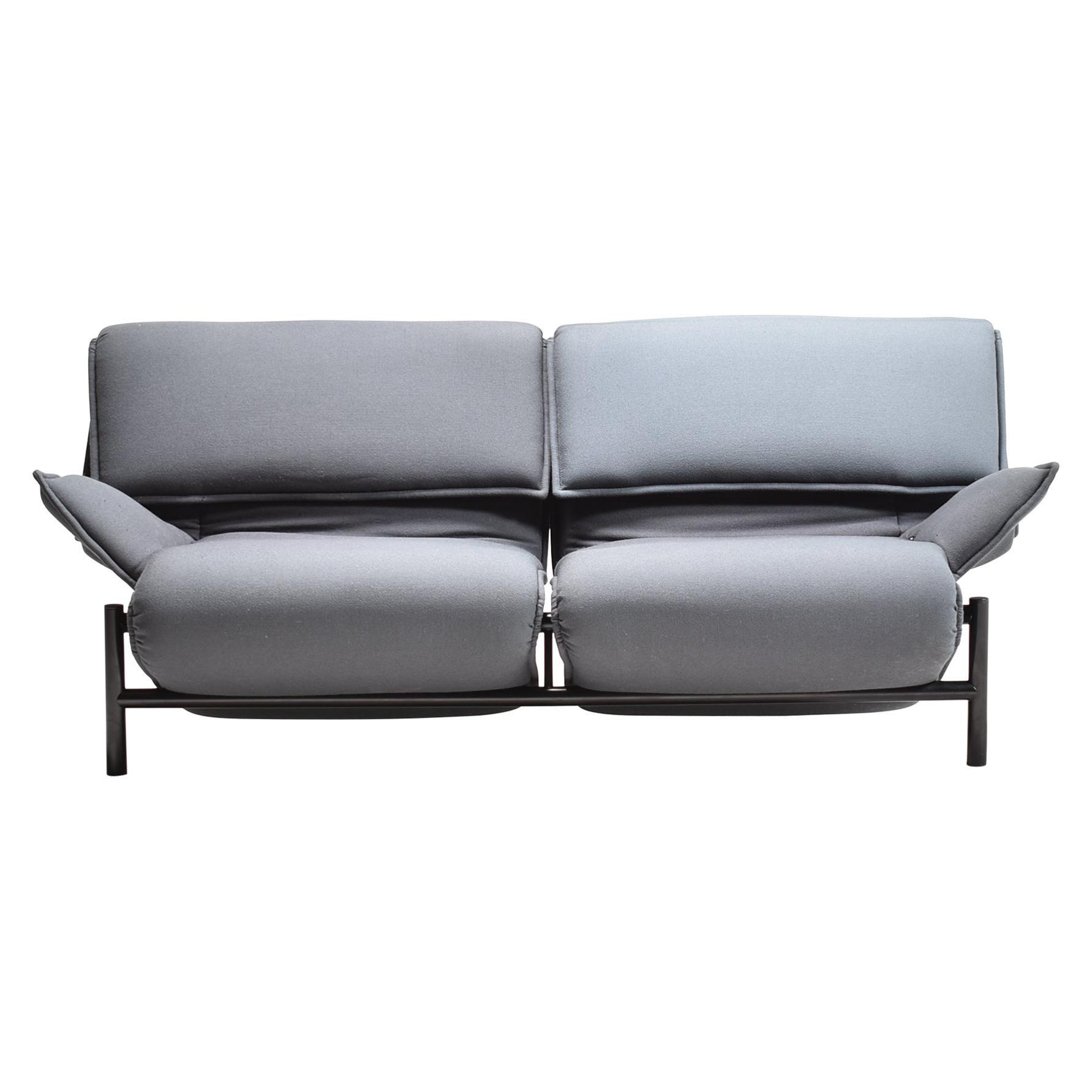 Grey Veranda Sofa for Cassina Designed by Vico Magistretti, Italy, 1980