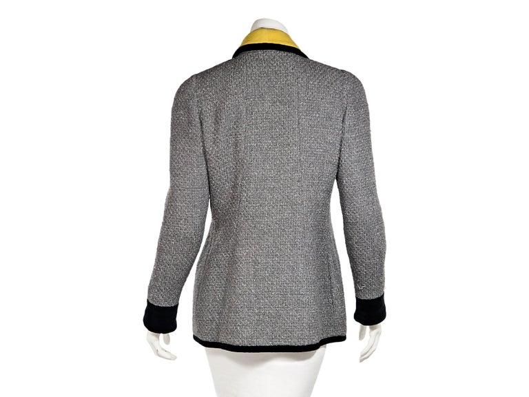 Gray Grey Vintage Chanel Tweed Jacket For Sale