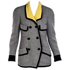 Grey Vintage Chanel Tweed Jacket