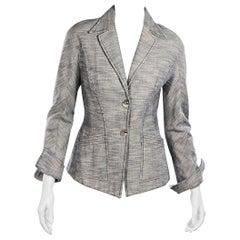 Grey Vintage Thierry Mugler Couture Cotton Blazer