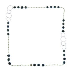 Grey White Pearls 9 Karat Rose Gold Necklace Handcrafted in Italy
