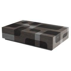 Grey Wood Rectangular Coffee Table Bodega Collection by Joel Escalona