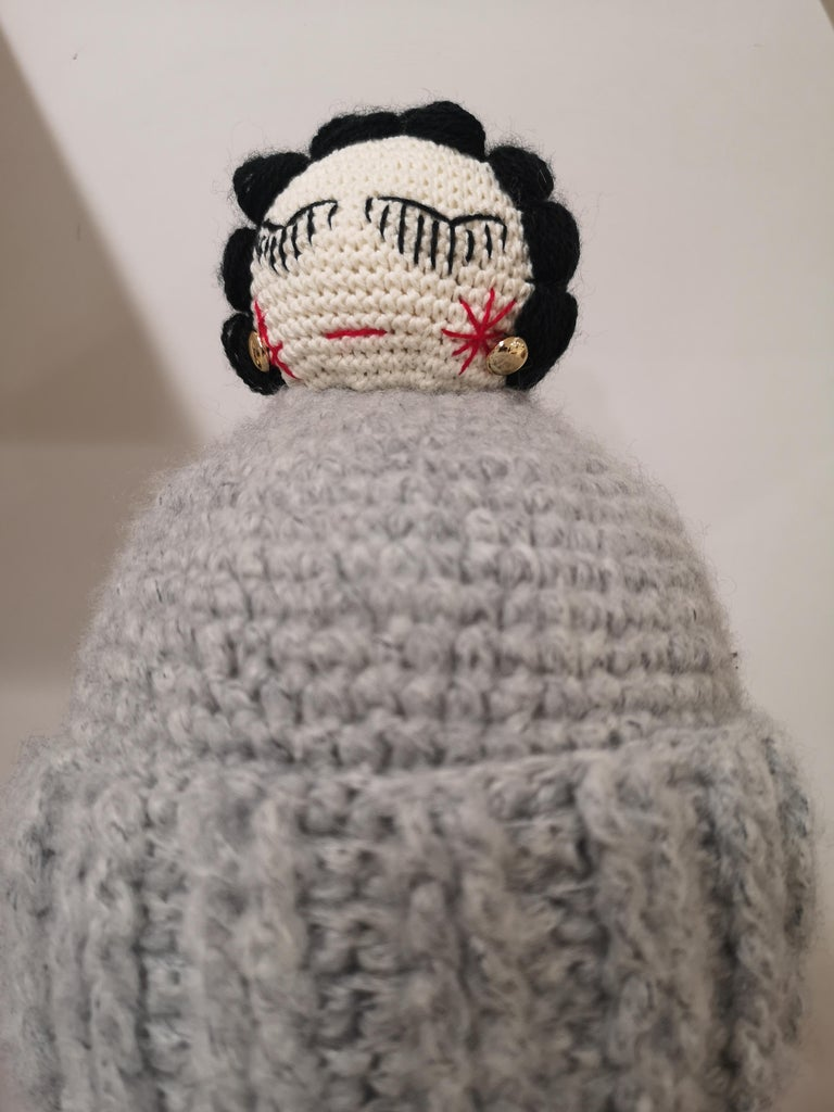 Women's or Men's Grey wool Coco doll hat For Sale
