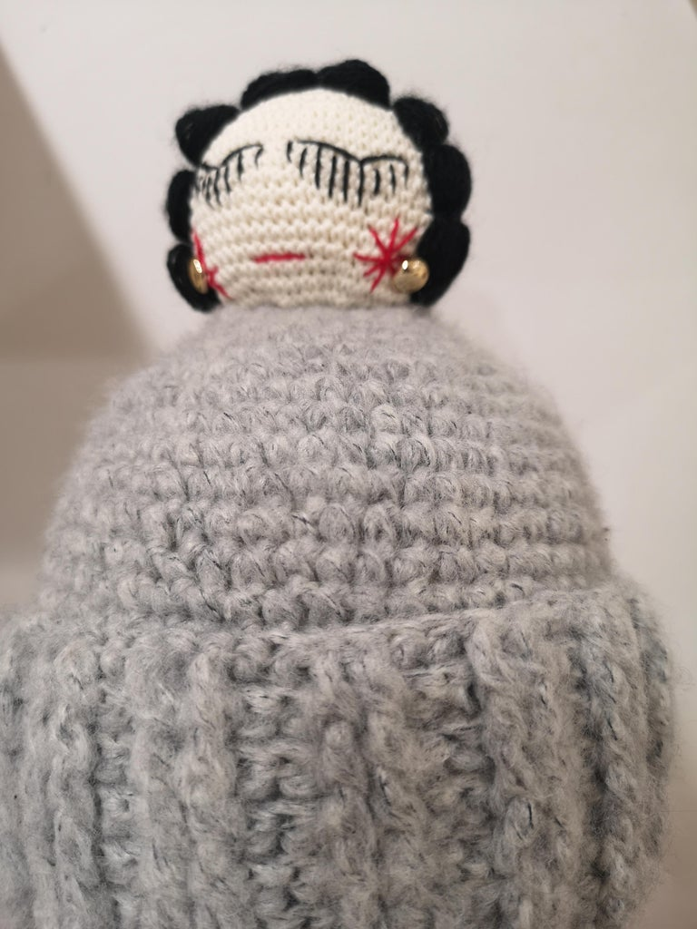 Grey wool Coco doll hat For Sale 1