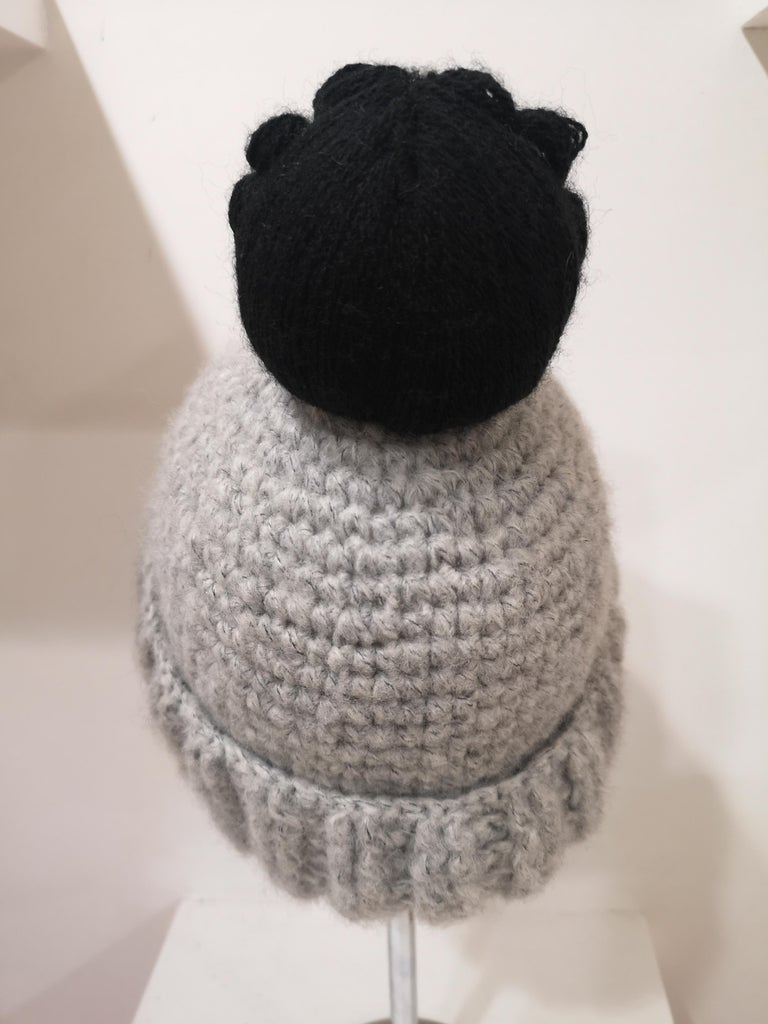 Grey wool Coco doll hat For Sale 2