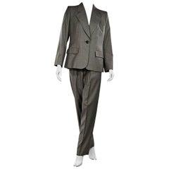 Grey Yves Saint Laurent 3-Piece Wool Suit