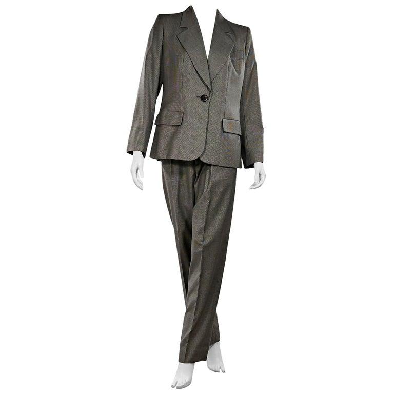 9d56b7826e7 Grey Yves Saint Laurent 3-Piece Wool Suit For Sale at 1stdibs