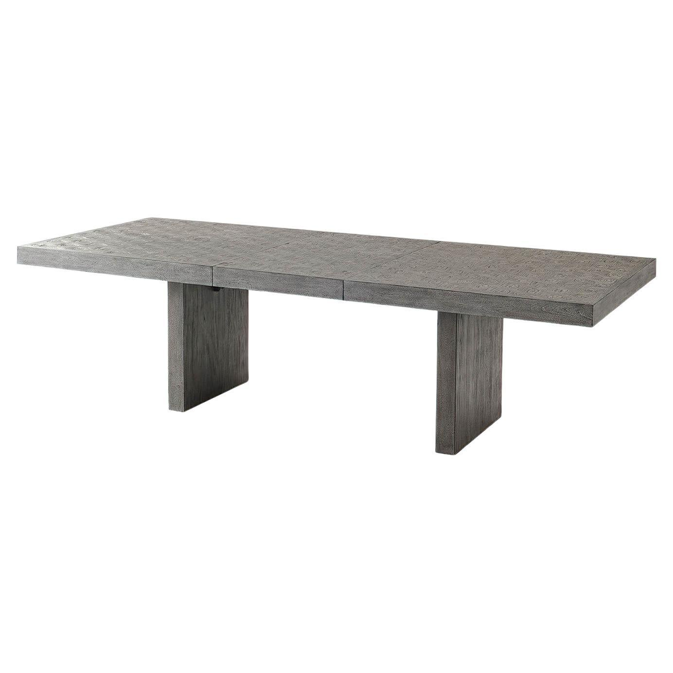 Greyed Extension Dining Table