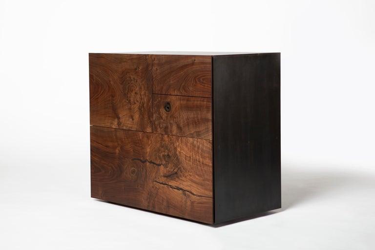 Organic Modern Grid Cabinet For Sale