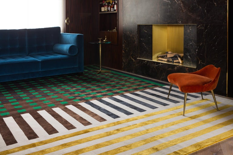 There are Scottish threads running through much of Kane's work. His distinctly modern aesthetic is reflected in this design which is inspired by the constructivism movement. There is also an element of Mackintosh chairs in the famous Willow Tearooms