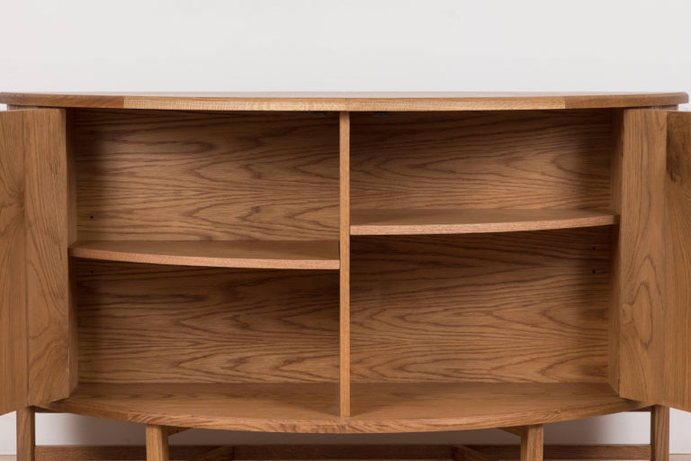 Oak Griffin Console by Lawson-Fenning For Sale