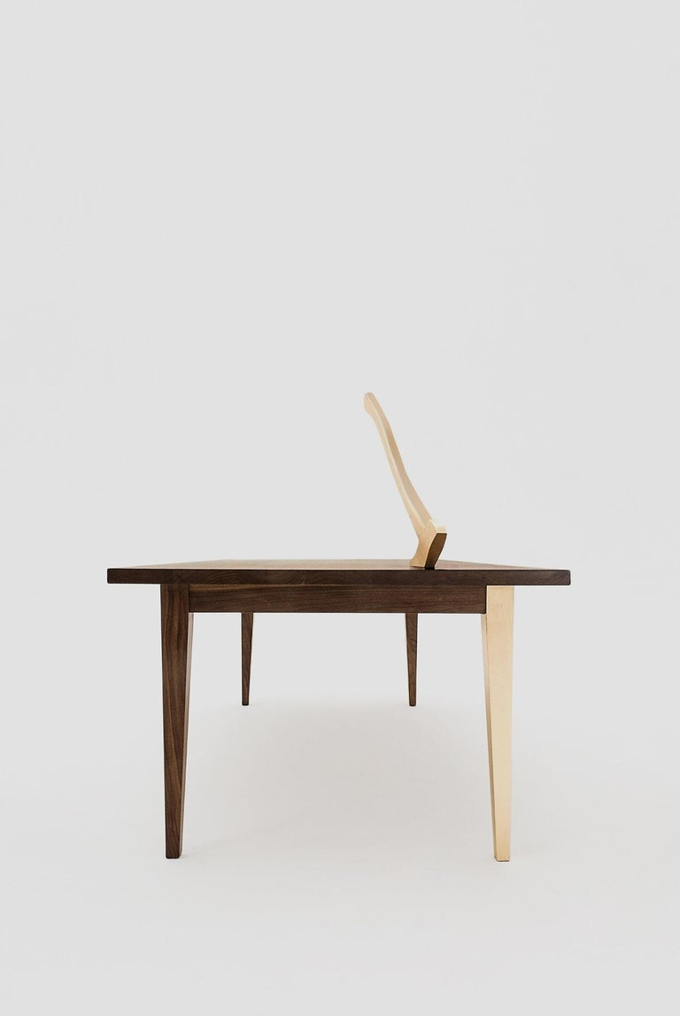 American Classical Grimm Walnut Gold Table For Sale